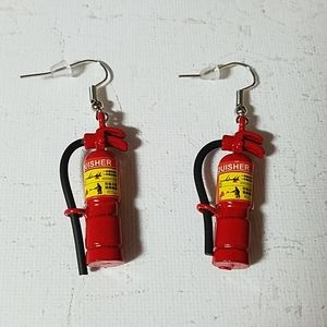 "Fire Extinguisher 1 1/2"" Earrings"